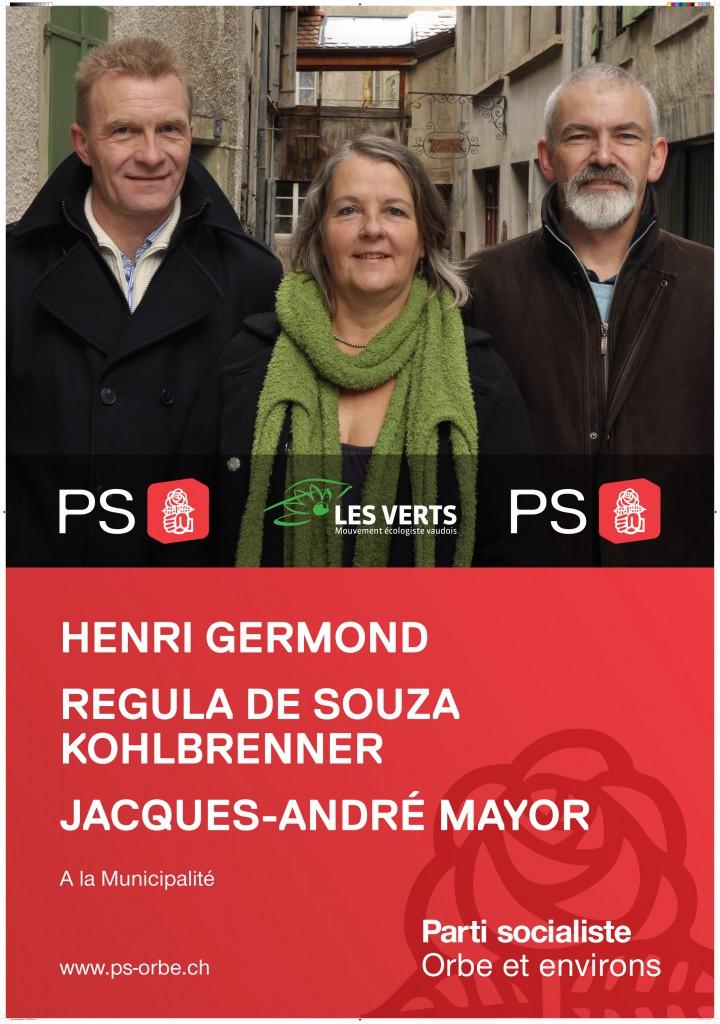 L'affiche socialiste pour les élections de mars 2011