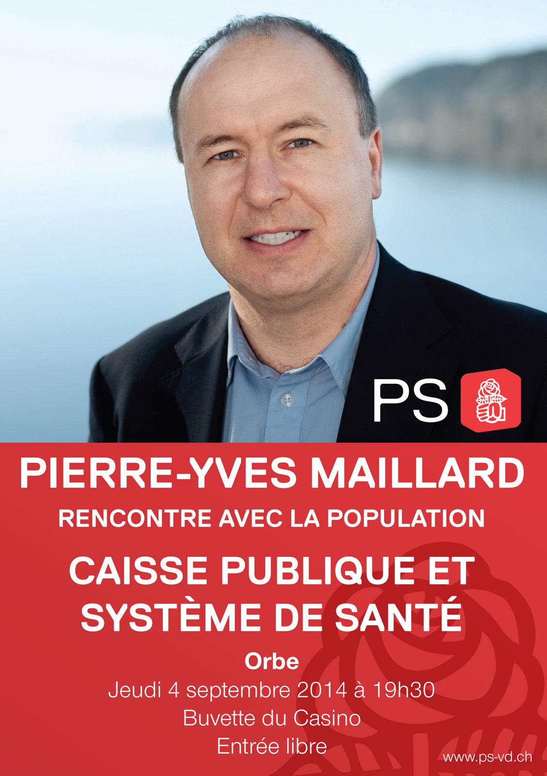 Caisse unique: Pierre-Yves Maillard à Orbe